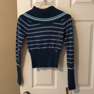 NWT Dkny jeans juniors stripe sweater size small